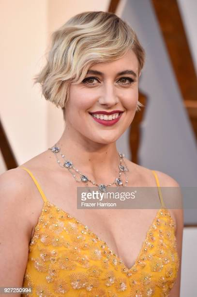 Greta Gerwig attends the 90th Annual Academy Awards at Hollywood Highland Center on March 4 2018 in Hollywood California