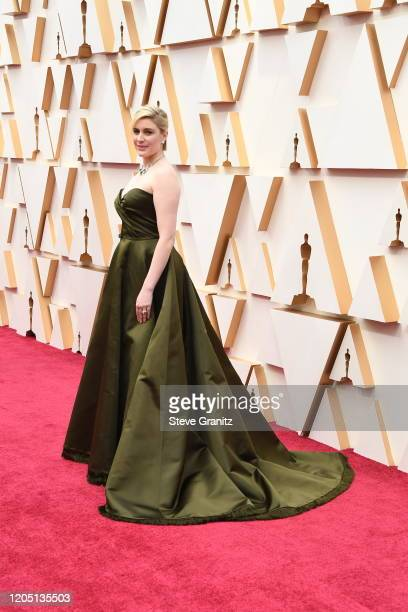 Greta Gerwig attends the 92nd Annual Academy Awards at Hollywood and Highland on February 09, 2020 in Hollywood, California.