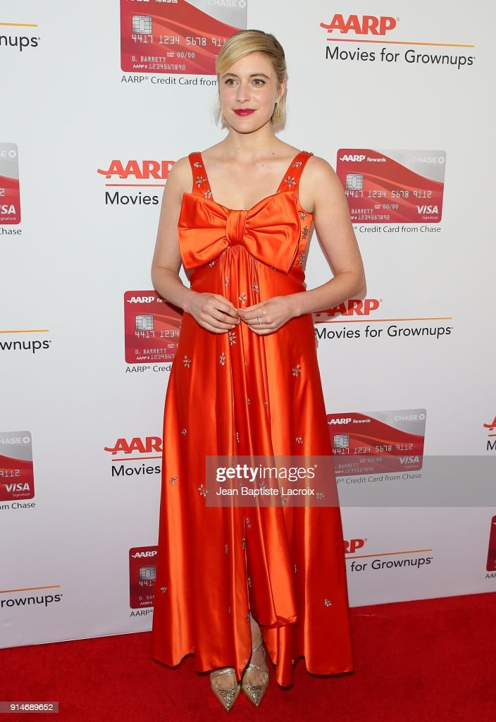 Greta Gerwig attends the AARP's 17th Annual Movies For Grownups Awards on February 05, 2018 in Beverly Hills, California.