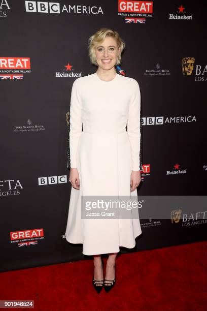 Greta Gerwig attends The BAFTA Los Angeles Tea Party at Four Seasons Hotel Los Angeles at Beverly Hills on January 6 2018 in Los Angeles California
