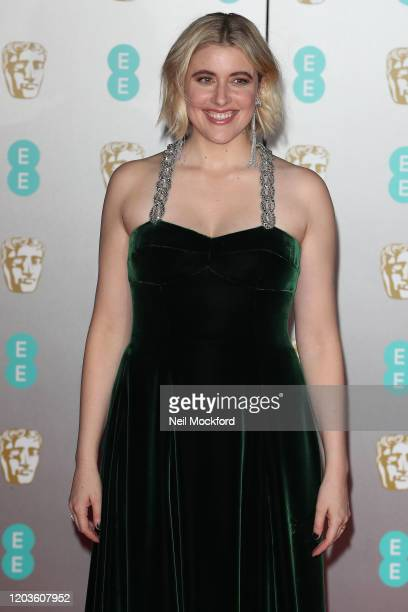 Greta Gerwig attends the EE British Academy Film Awards 2020 at Royal Albert Hall on February 02 2020 in London England