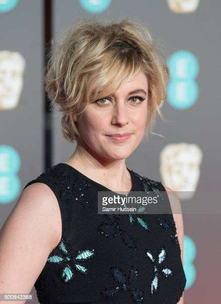 Greta Gerwig attends the EE British Academy Film Awards held at Royal Albert Hall on February 18 2018 in London England