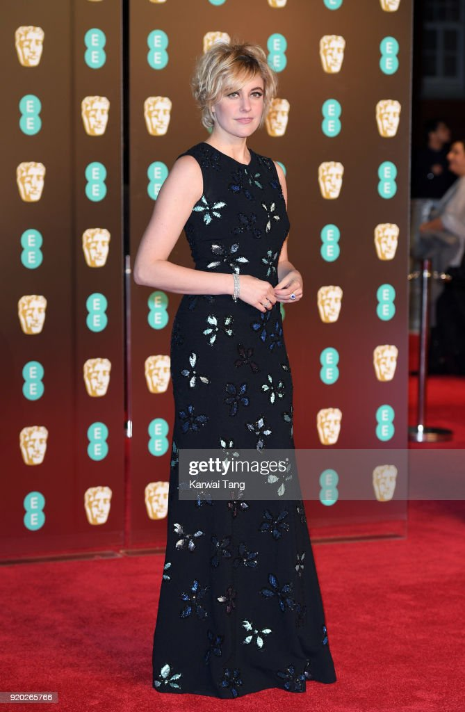 Greta Gerwig attends the EE British Academy Film Awards (BAFTAs) held at the Royal Albert Hall on February 18, 2018 in London, England.