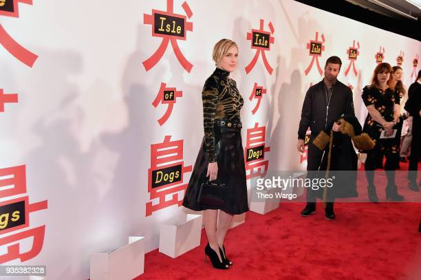 Greta Gerwig attends the 'Isle Of Dogs' New York Screening at The Metropolitan Museum of Art on March 20 2018 in New York City