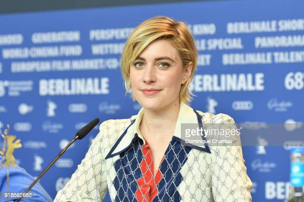 Greta Gerwig attends the 'Isle of Dogs' press conference during the 68th Berlinale International Film Festival Berlin at Grand Hyatt Hotel on...