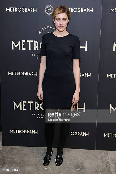 Greta Gerwig attends the Metrograph opening night at Metrograph on March 2 2016 in New York City
