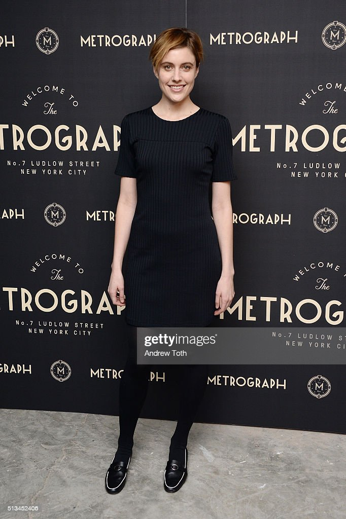 Greta Gerwig attends the Metrograph opening night at Metrograph on March 2, 2016 in New York City.
