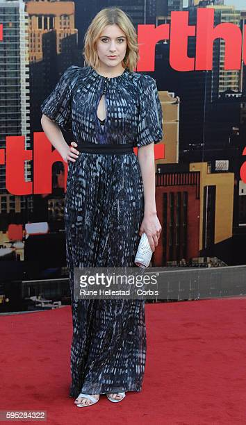 Greta Gerwig attends the premiere of 'Arthur' at Cineworld O2 Arena