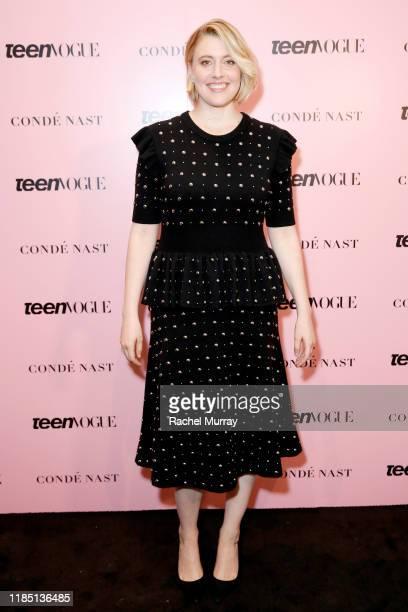 Greta Gerwig attends the Teen Vogue Summit 2019 at Goya Studios on November 02 2019 in Los Angeles California