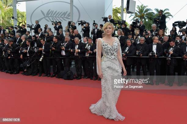 Greta Gerwig attends the 'The Meyerowitz Stories' screening during the 70th annual Cannes Film Festival at Palais des Festivals on May 21 2017 in...