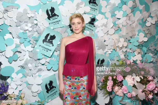 Greta Gerwig attends the Tiffany Co Paper Flowers event and Believe In Dreams campaign launch on May 3 2018 in New York City