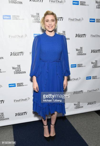 Greta Gerwig attends the Writers Guild's Beyond Words 2018 at Writers Guild Theater on February 1 2018 in Beverly Hills California