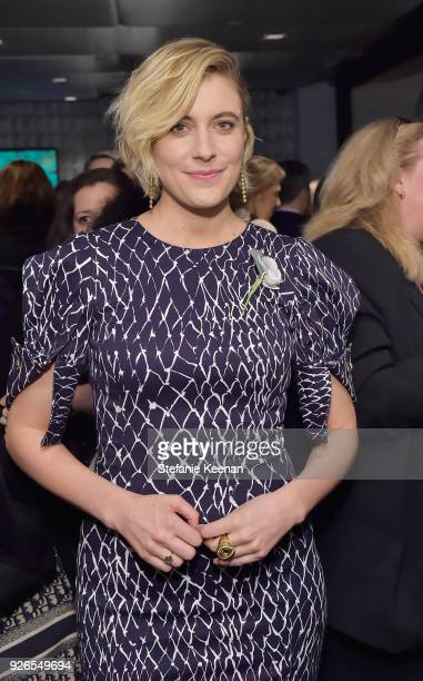 Greta Gerwig attends Women In Film PreOscar Cocktail Party presented by Max Mara and Lancome with additional support from Crustacean Beverly Hills...
