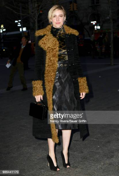Greta Gerwig is seen on March 20 2018 in New York City