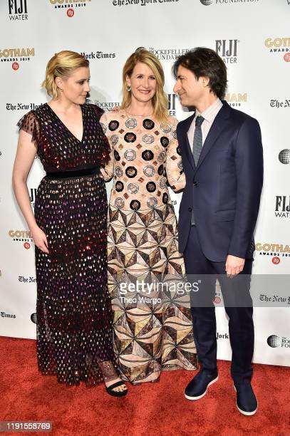 Greta Gerwig, Laura Dern, and Noah Baumbach attend the IFP's 29th Annual Gotham Independent Film Awards at Cipriani Wall Street on December 02, 2019...