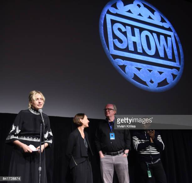 Greta Gerwig Laurie Metcalf Tracy Letts and Barry Jenkins introduce 'Lady Bird' at the Telluride Film Festival 2017 on September 1 2017 in Telluride...