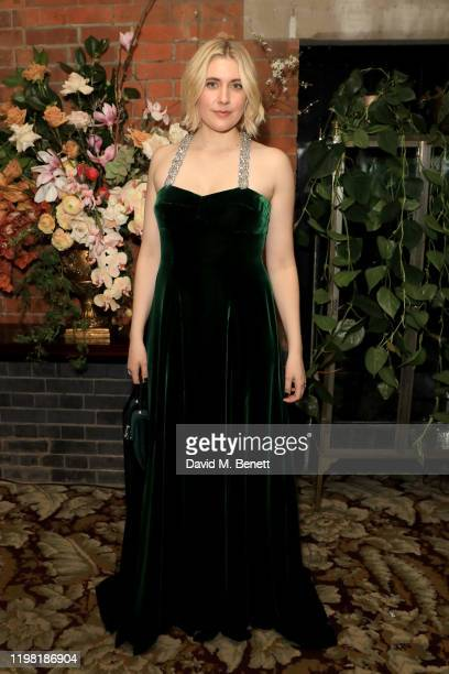 Greta Gerwig poses the Netflix BAFTA after party at Chiltern Firehouse on February 2 2020 in London England