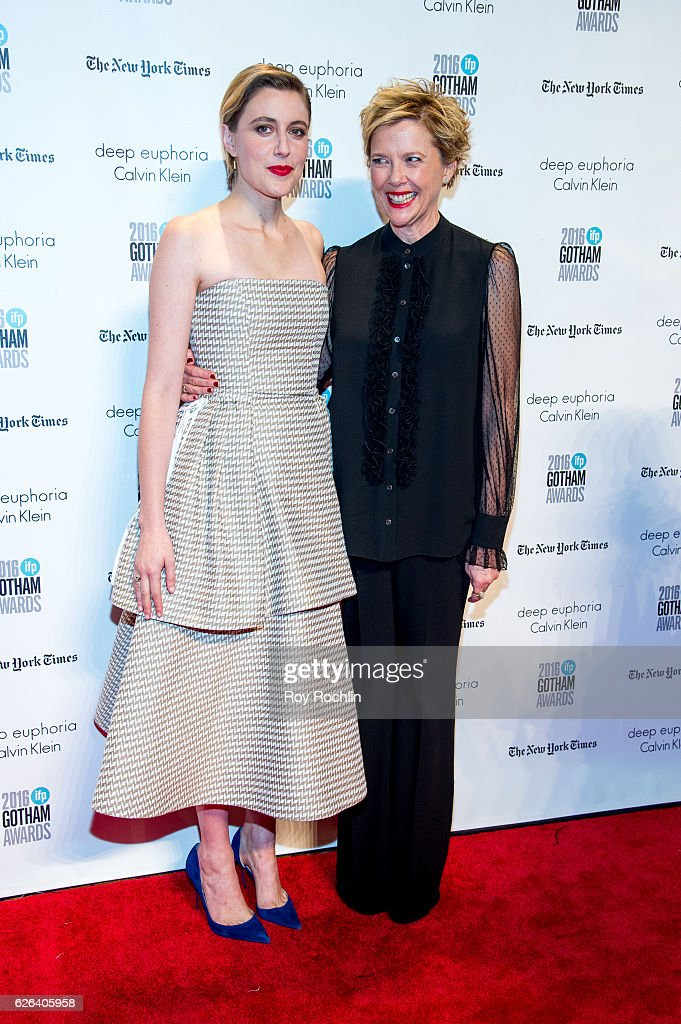 Greta Gerwig with Annette Bening attend the 26th Annual Gotham Independent Film Awards at Cipriani Wall Street on November 28, 2016 in New York City.