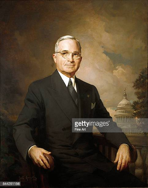Greta Kempton official portrait of President Harry S Truman oil on canvas Harry S Truman Presidential Library