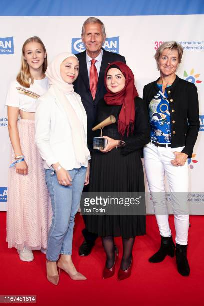 Greta Klimke German news anchor Ulrich Wickert Olympic gold medalist Ingrid Klimke with the award winner Youth advocates during the Ulrich Wickert...