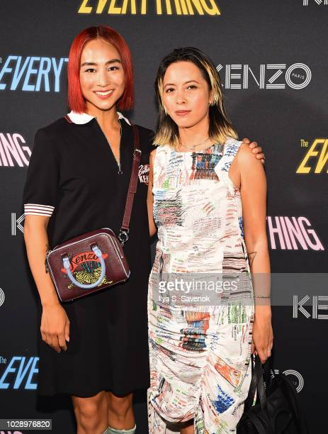 Greta Lee and Angela Dimayuga attends the Premiere of The Everything A Film By Humberto Leon For KENZO on September 7 2018 in New York City