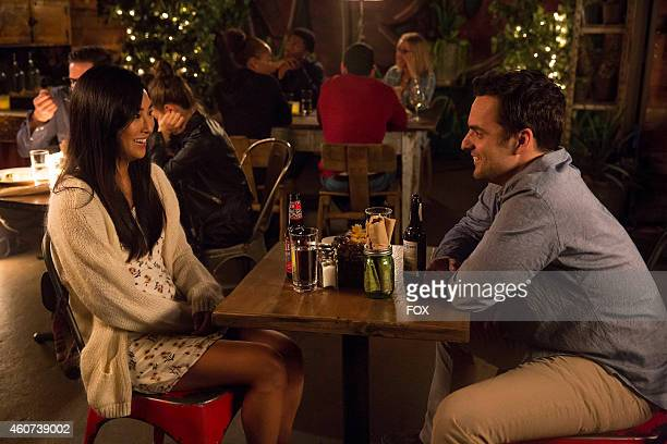 """Greta Lee and Jake Johnson in the """"Girl Fight"""" episode of NEW GIRL airing Tuesday, Dec. 2, 2014 on FOX."""