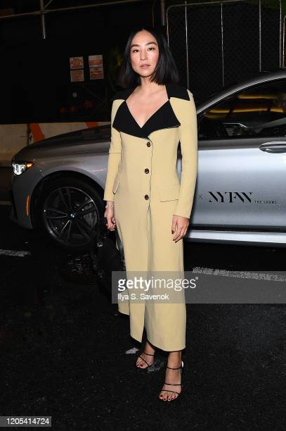 Greta Lee arrives to NYFW: The Shows in a BMW 750i xDrive Sedan in New York City on February 06, 2020. For the second consecutive year, BMW is the...