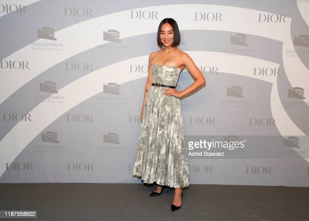 Greta Lee attends 2019 Guggenheim International Gala PreParty at Solomon R Guggenheim Museum on November 13 2019 in New York City