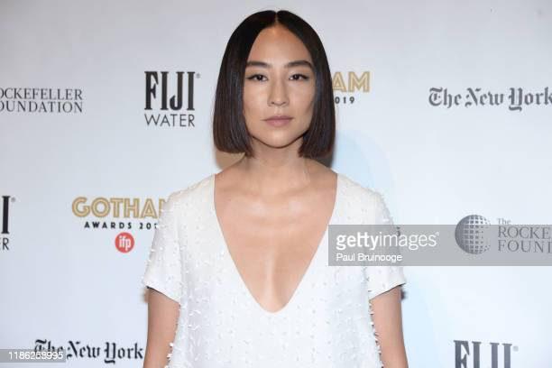 Greta Lee attends 2019 IFP Gotham Awards on December 2, 2019 at Cipriani Wall Street in New York City.