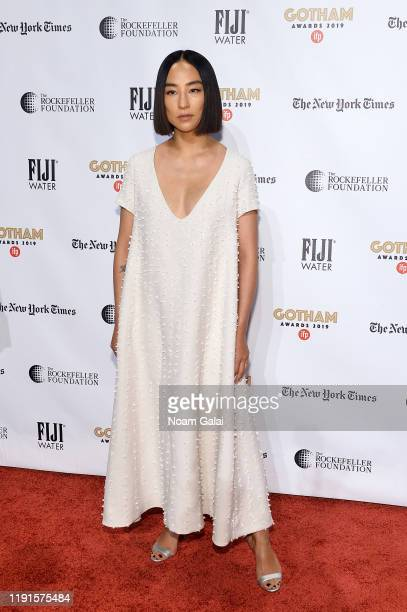 Greta Lee attends the 2019 IFP Gotham Awards with FIJI Water at Cipriani Wall Street on December 02, 2019 in New York City.