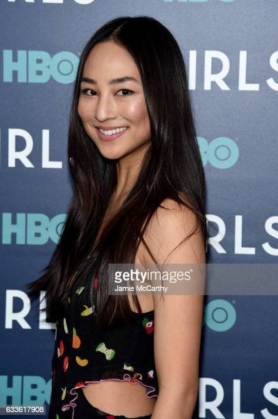 """Greta Lee attends The New York Premiere Of The Sixth & Final Season Of """"Girls"""" at Alice Tully Hall, Lincoln Center on February 2, 2017 in New York..."""