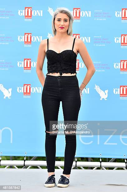 Greta Menchi attends Giffoni Film Festival 2015 Day 6 photocall on July 22 2015 in Giffoni Valle Piana Italy