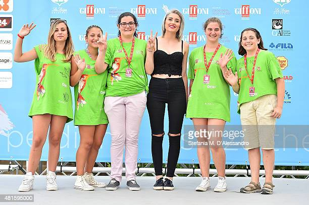 Greta Menchi attends the Giffoni Film Festival 2015 Day 6 photocall on July 22 2015 in Giffoni Valle Piana Italy