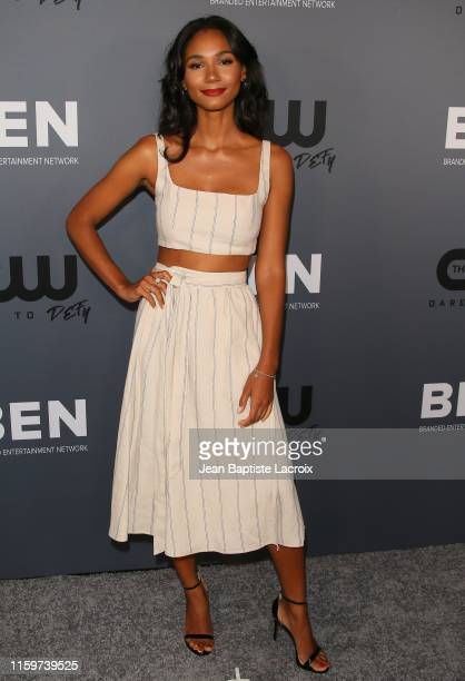 Greta Onieogou attends The CW's Summer 2019 TCA Party sponsored by Branded Entertainment Network at The Beverly Hilton Hotel on August 04, 2019 in...