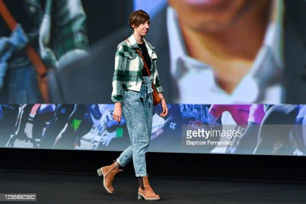 Greta RICHIOUD during the presentation of the Tour de France 2022 at Palais des Congres on October 14, 2021 in Paris, France.