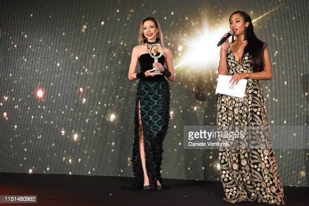 Greta Sapkaite attends theInaugural 'World Bloggers Awards' during the 72nd annual Cannes Film Festival on May 24, 2019 in Cannes, France. The...