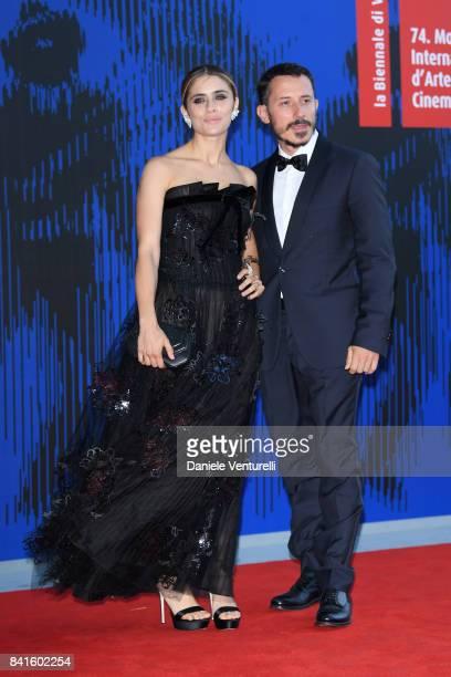 Greta Scarano and Michele Alhaique attend the Franca Sozzani Award during the 74th Venice Film Festival on September 1, 2017 in Venice, Italy.
