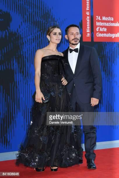 Greta Scarano and Michele Alhaique attend the The 1st Franca Sozzani Award during the 74th Venice Film Festival at Sala Giardino on September 1, 2017...