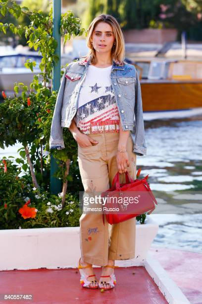 Greta Scarano arrives at the 74th Venice Film Festival on August 29 2017 in Venice Italy