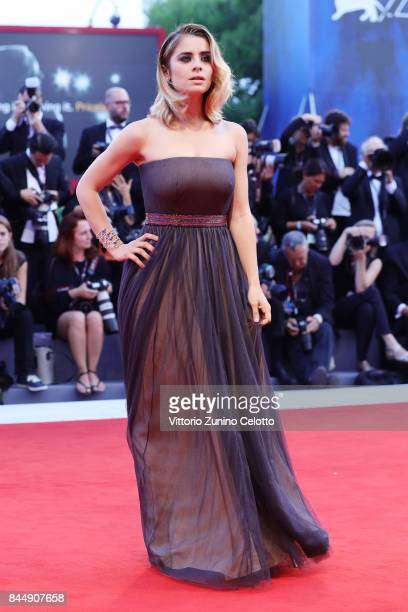 Greta Scarano arrives at the Award Ceremony of the 74th Venice Film Festival at Sala Grande on September 9 2017 in Venice Italy