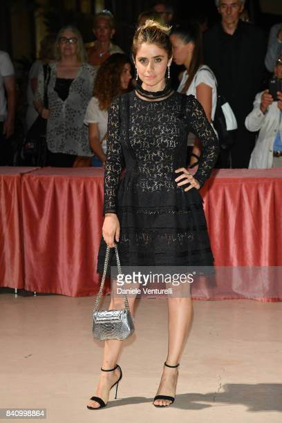 Greta Scarano arrives at the dinner after the Opening Ceremony during the 74th Venice Film Festival at Excelsior Hotel on August 30 2017 in Venice...