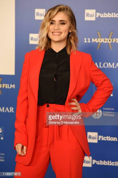 Greta Scarano attends Il Nome Della Rosa Photocall on March 01 2019 in Milan Italy