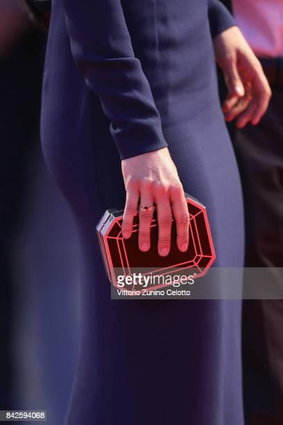 Greta Scarano bag detail walks the red carpet ahead of the 'Three Billboards Outside Ebbing Missouri' screening during the 74th Venice Film Festival...