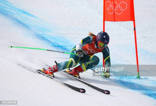 Greta Small of Australia Alpine Skiing Ladies' Downhill Training on day 10 of the PyeongChang 2018 Winter Olympic Games at Jeongseon Alpine Centre on...