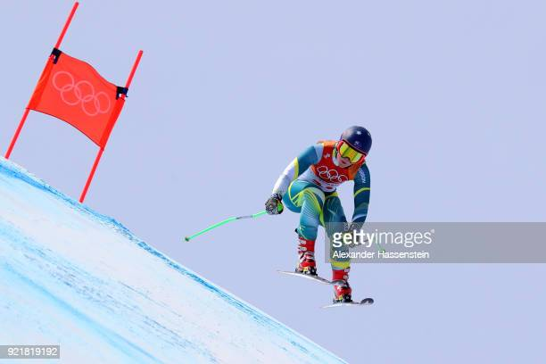 Greta Small of Australia competes during the Ladies' Downhill on day 12 of the PyeongChang 2018 Winter Olympic Games at Jeongseon Alpine Centre on...