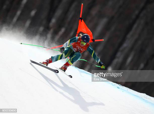 Greta Small of Australia makes a run during Alpine Skiing Ladies' Downhill Training on day 10 of the PyeongChang 2018 Winter Olympic Games at...