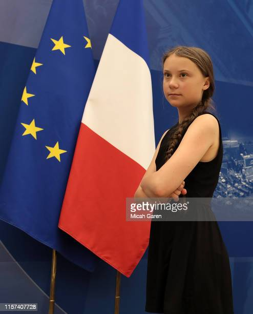 Greta Thunberg addresses the National Assembly In Paris on July 23, 2019 in Paris, France. Ms. Thunberg is a Swedish activist who started protesting...