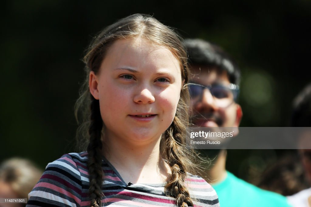ITA: Fridays For Future Rally With Greta Thunberg At Piazza Del Popolo