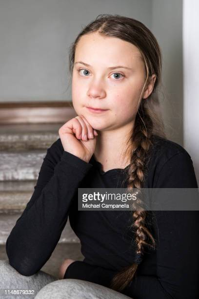 Greta Thunberg poses for a portrait session on March 7 2019 in Stockholm Sweden