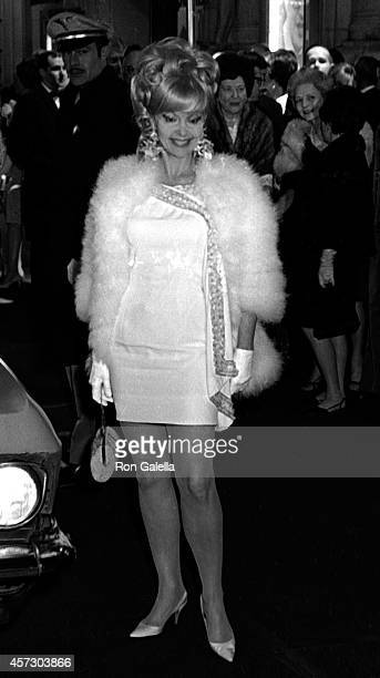 Greta Thyssen attends 21st Annual Tony Awards on March 26 1967 at the Shubert Theater in New York City